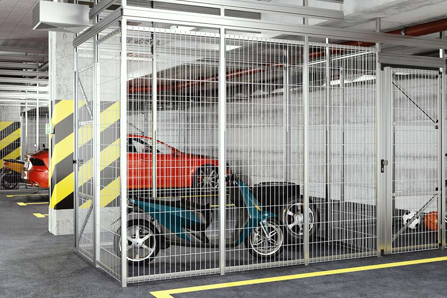 Gittertrennwand Keller-Trennwandsysteme und Garagentore